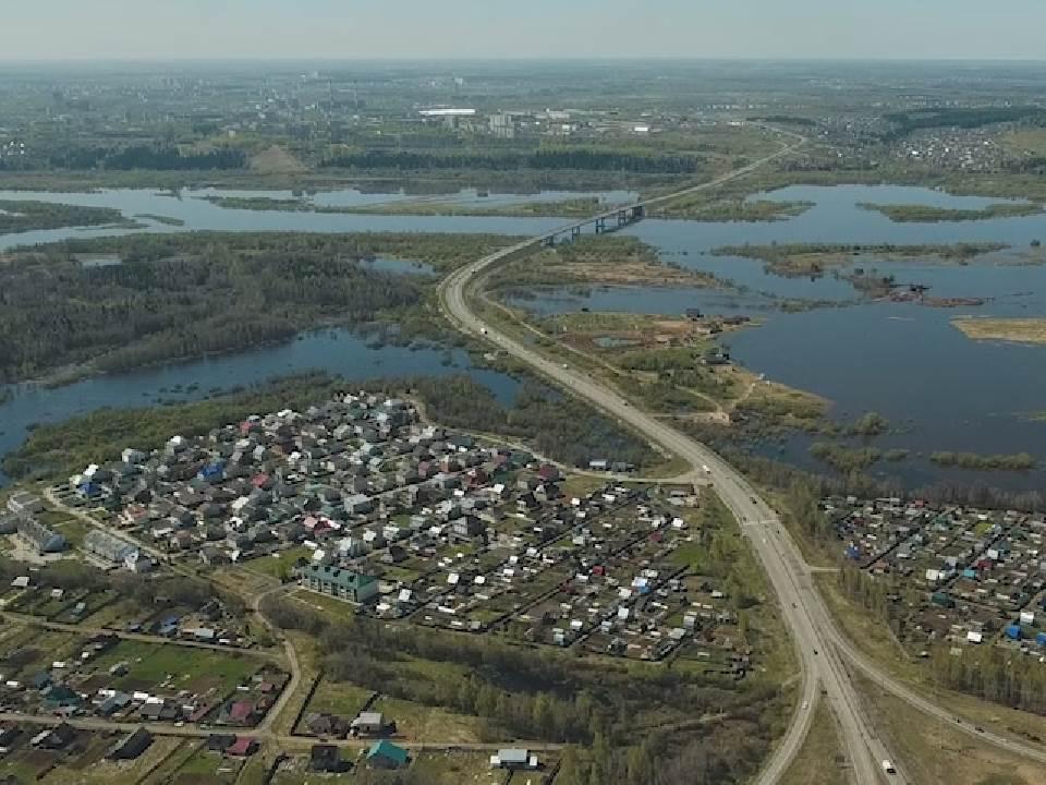 На реке Вятке в черте Кирова продолжается спад половодья.