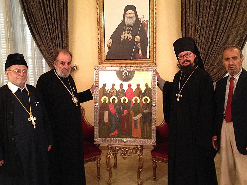 В Сирию доставили икону, написанную вятским мастером.