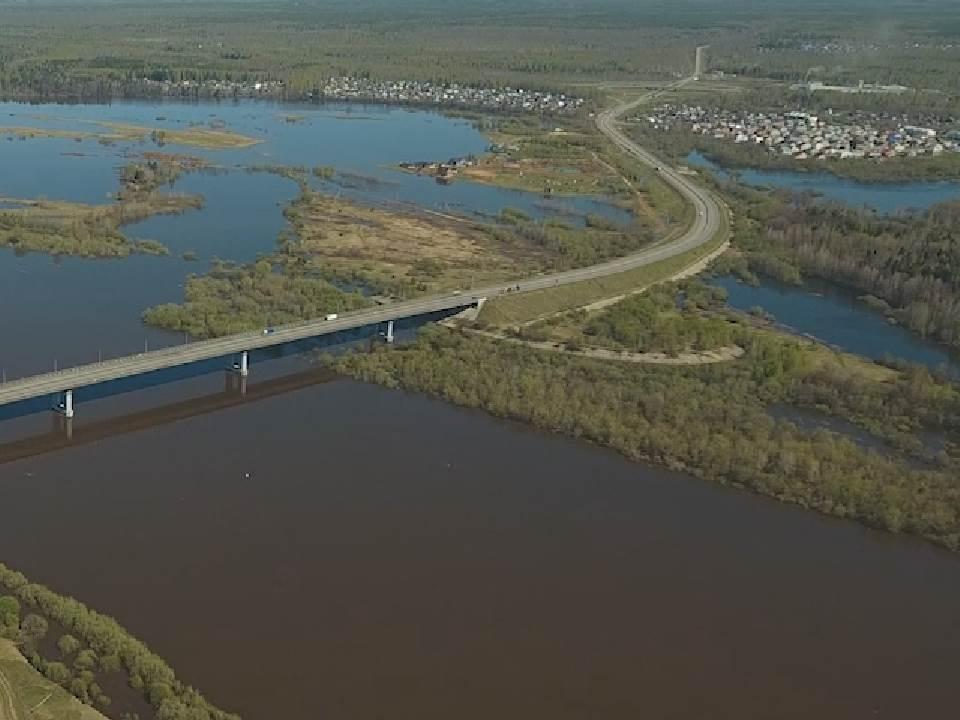 Река Вятка в черте города Кирова убыла на 57 см.