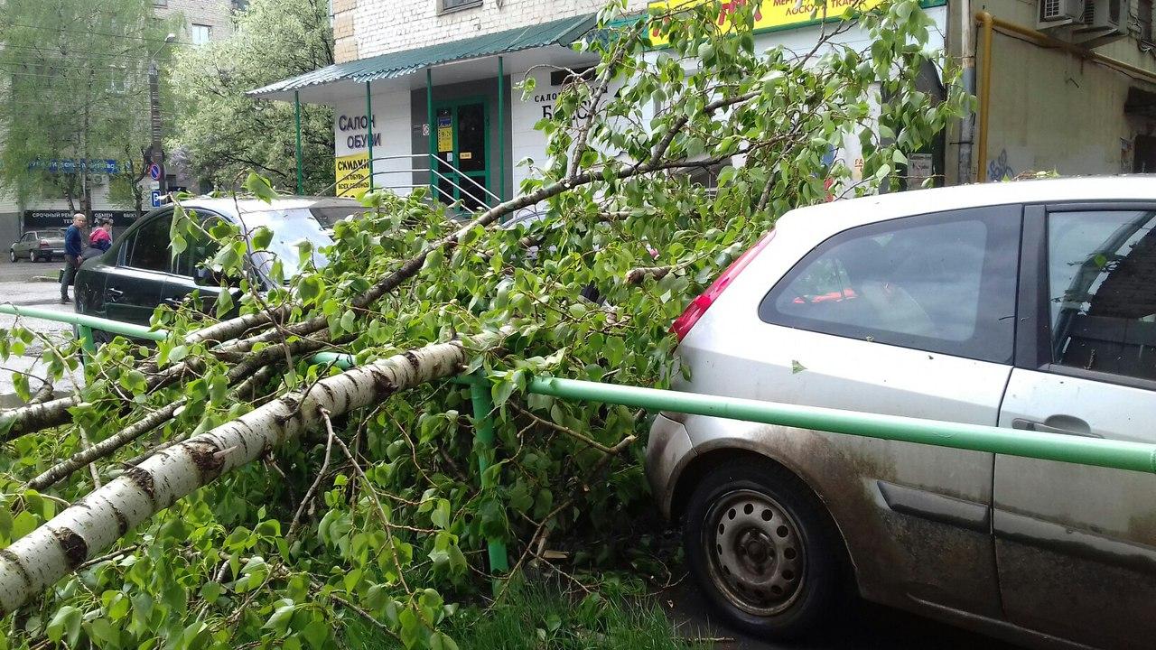 В Кирове прошла сильная гроза.