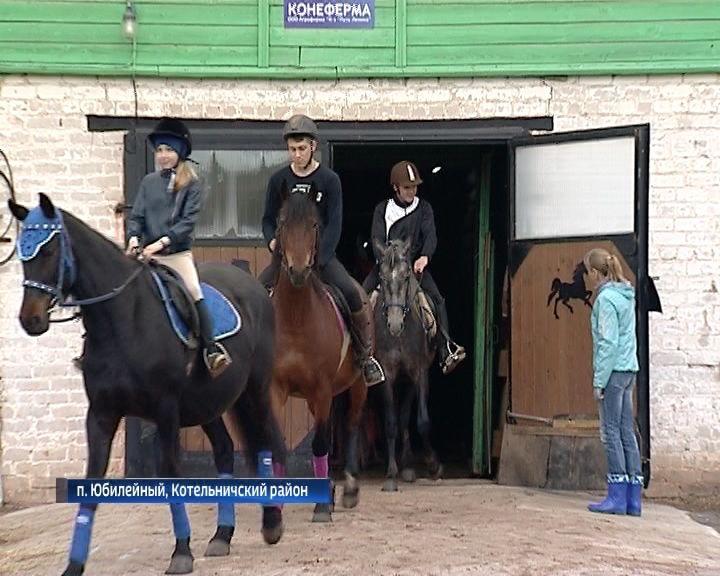 В Котельничском районе состоялись соревнования любителей конного спорта