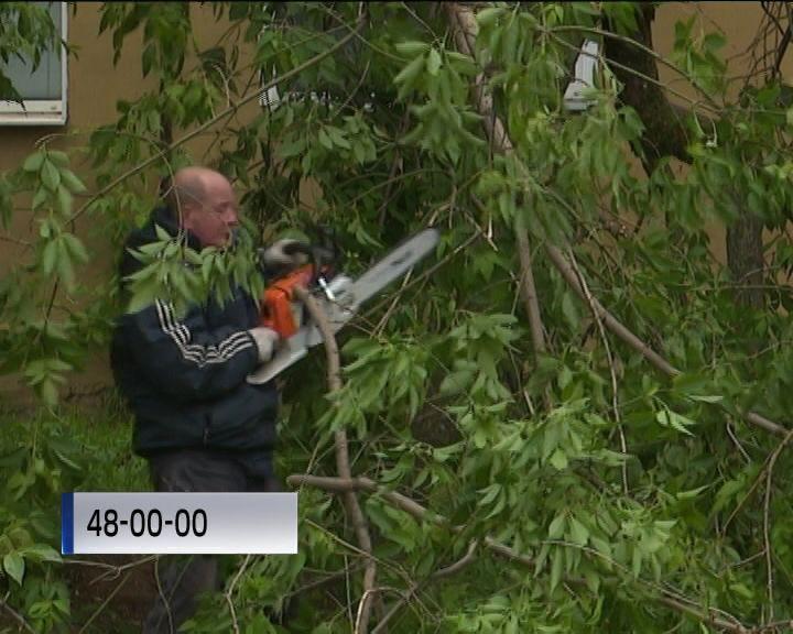 В Кирове устраняют последствия мощной грозы