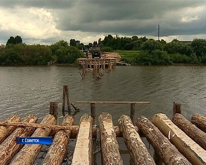 Строительство моста через Немду в Советске