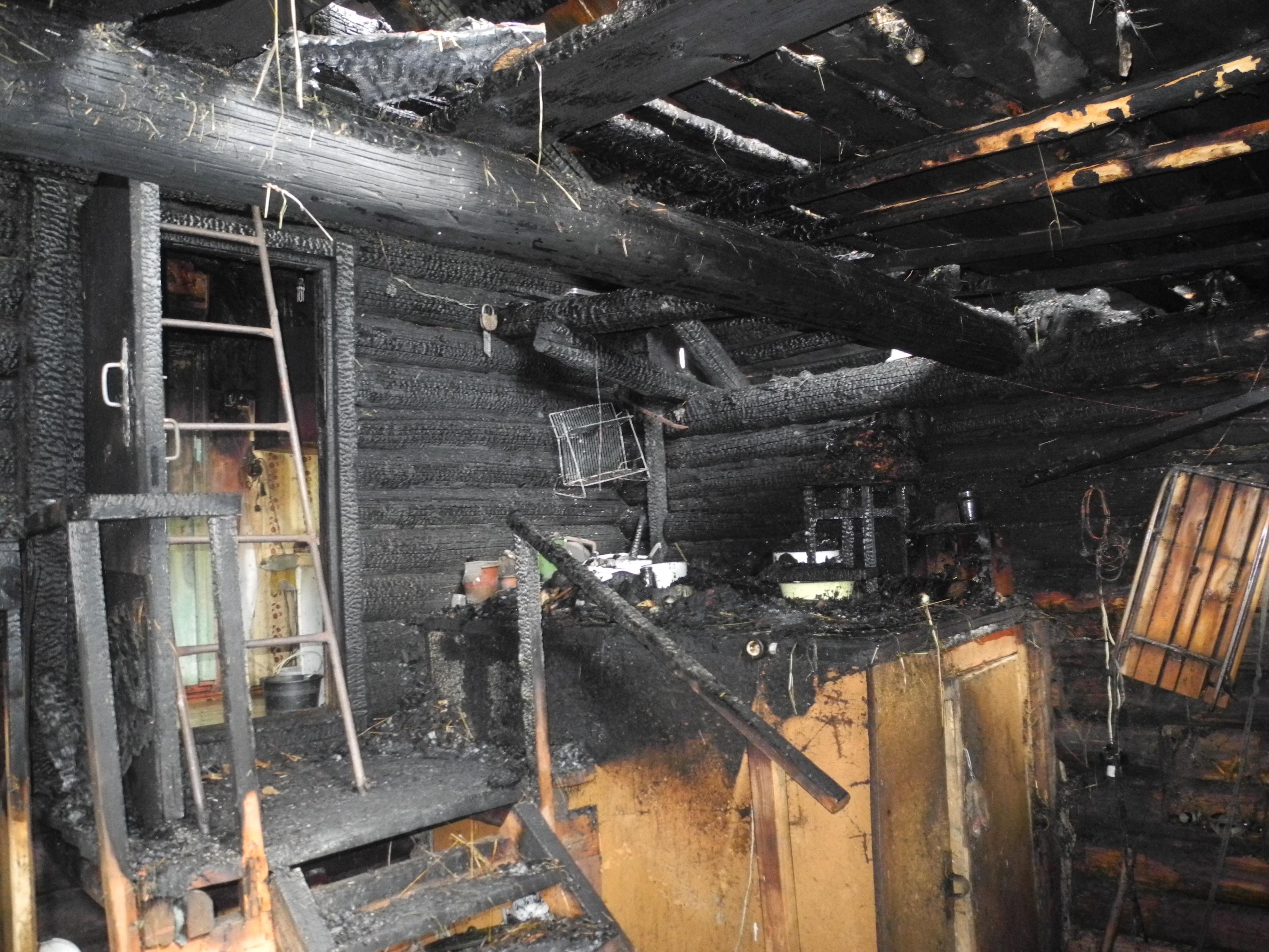 В Омутнинске в сгоревшем доме нашли тела двух человек.