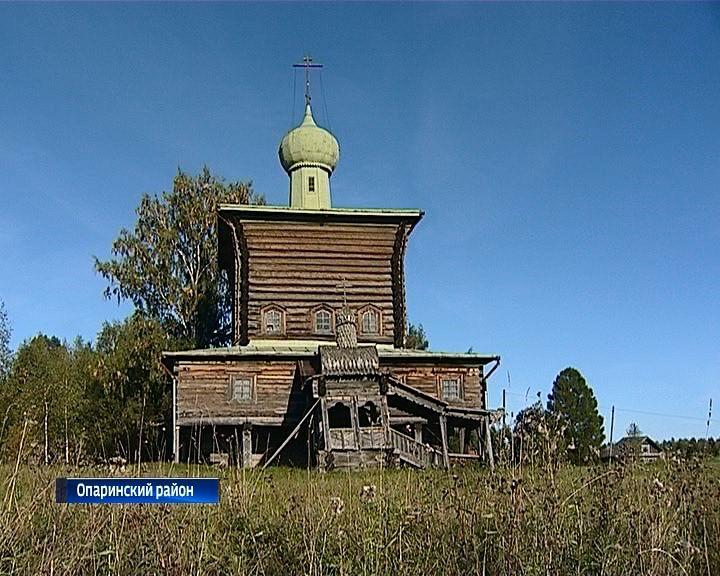 В Опаринском районе уникальная деревянная церковь нуждается в реставрации