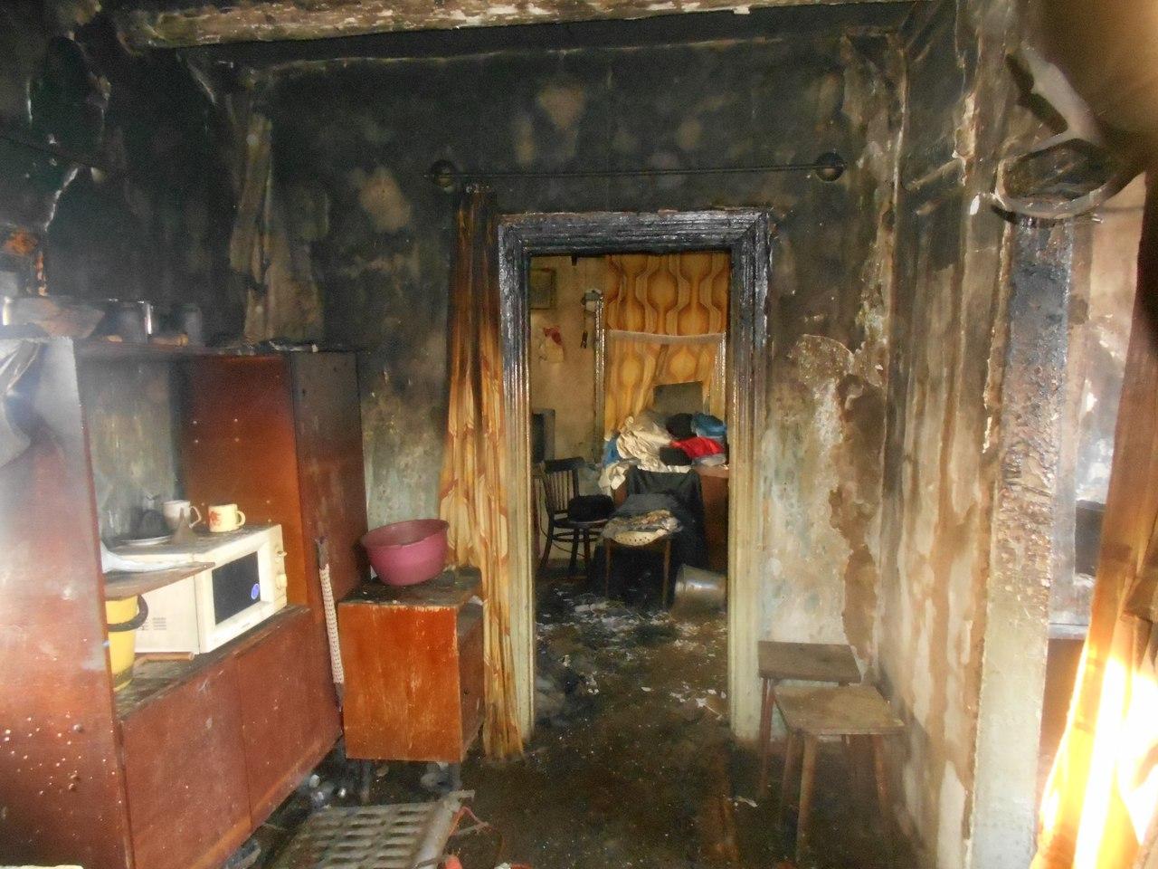 В п. Фаленки на пожаре погиб мужчина.