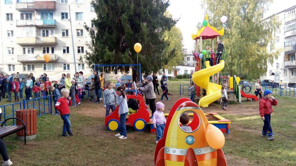 В ЗАТО Первомайский открыли новую детскую площадку.