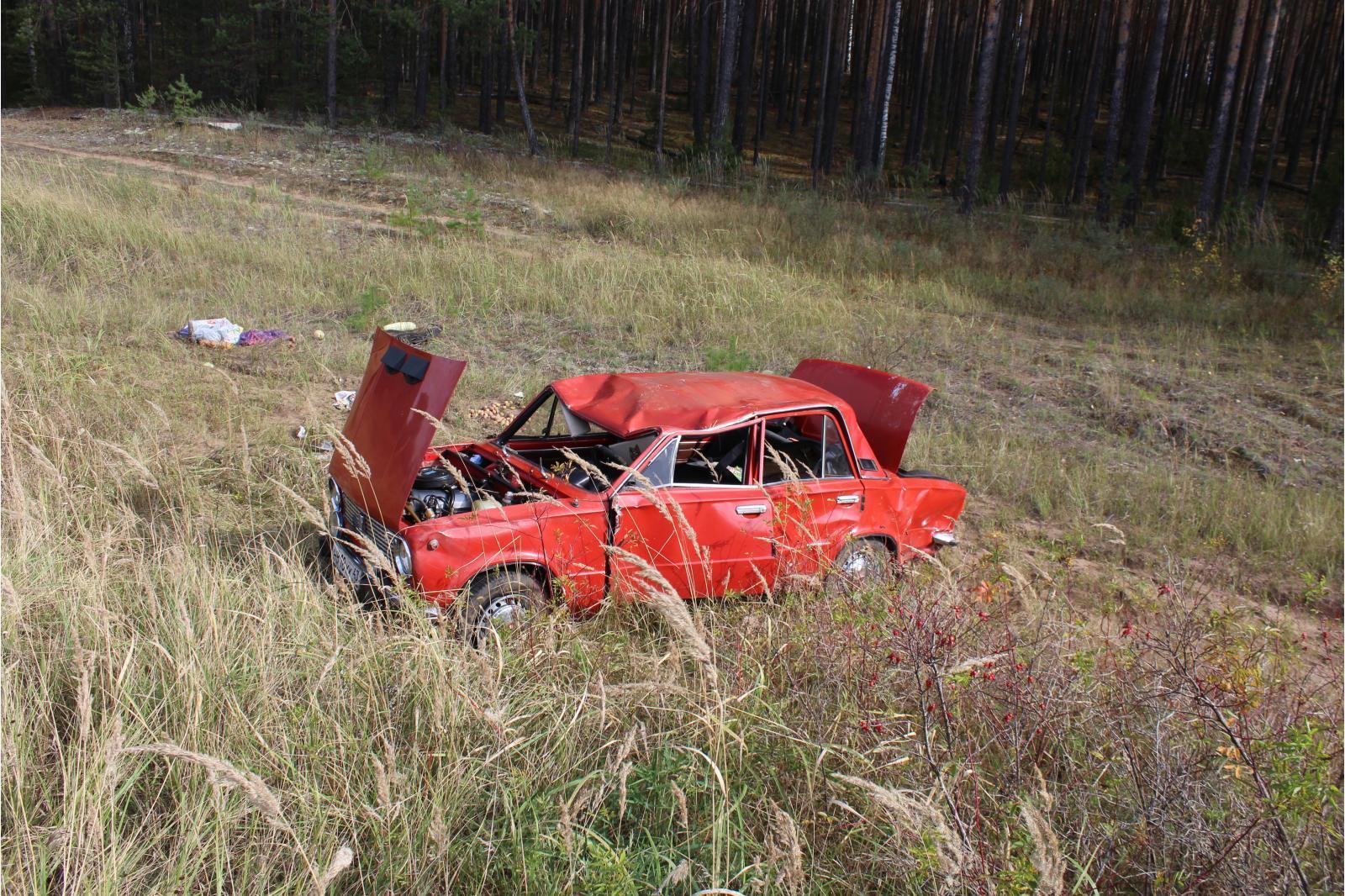 В Кильмезском районе в кювет вылетел ВАЗ-21011.