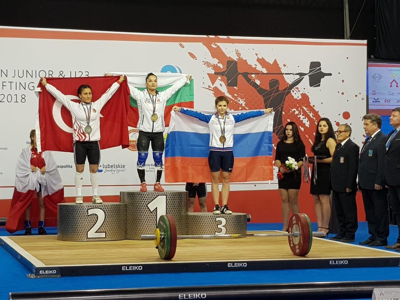 Кировская штангистка завоевала бронзу первенства Европы.
