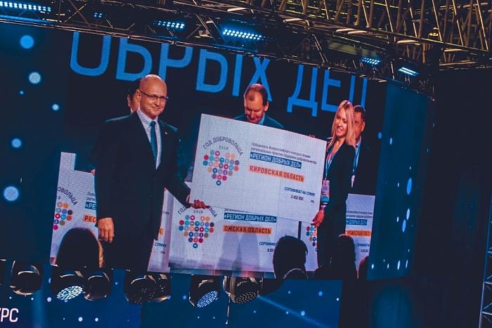 Кировская область получила грант Всероссийского конкурса «Регион добрых дел».
