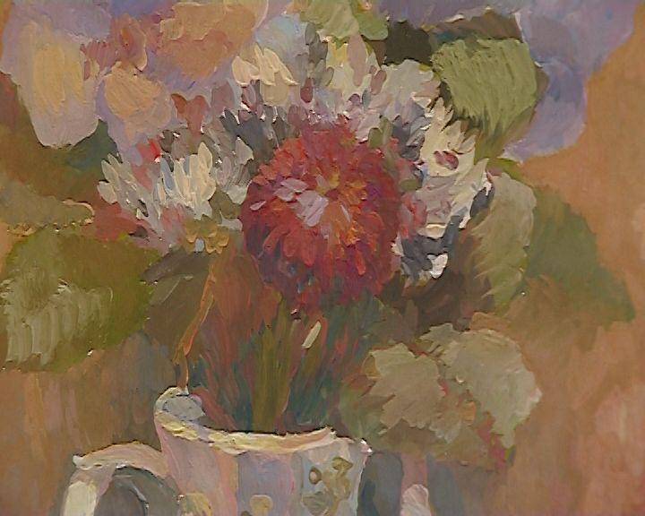 В ДХШ открылась первая персональная выставка юной художницы Софьи Лучининой