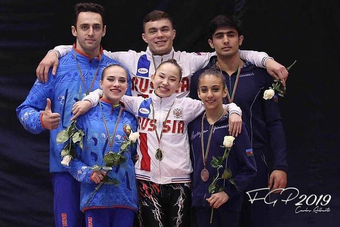 Кировские акробаты успешно выступили на этапе Кубка мира по спортивной акробатике.