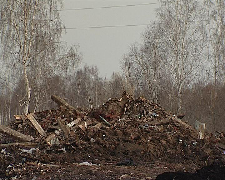 В Коминтерне на месте аварийного дома устроили огромную свалку