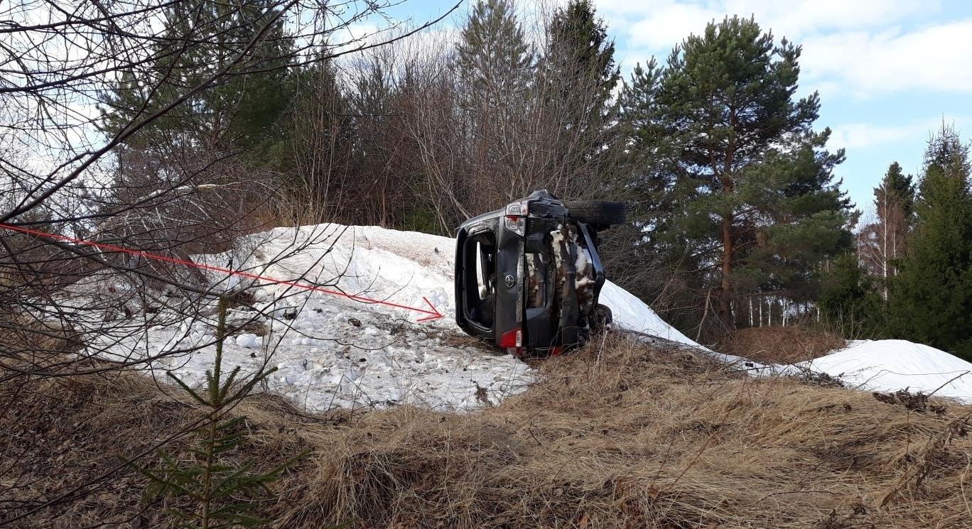 В Уржумском районе иномарка вылетела в кювет: 1 человек погиб.