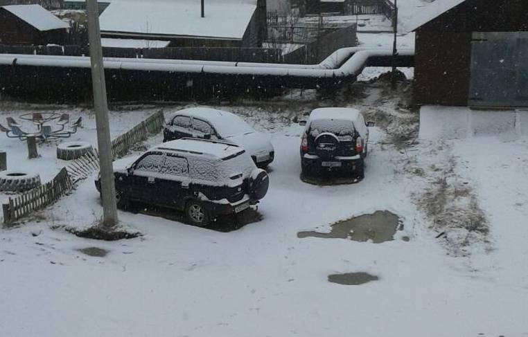 В северо-восточных районах Кировской области выпал снег.