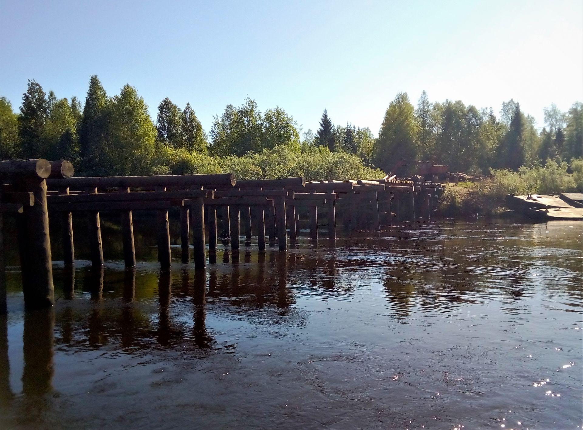 В Нагорском районе возобновились работы по восстановлению моста через р. Кобру.