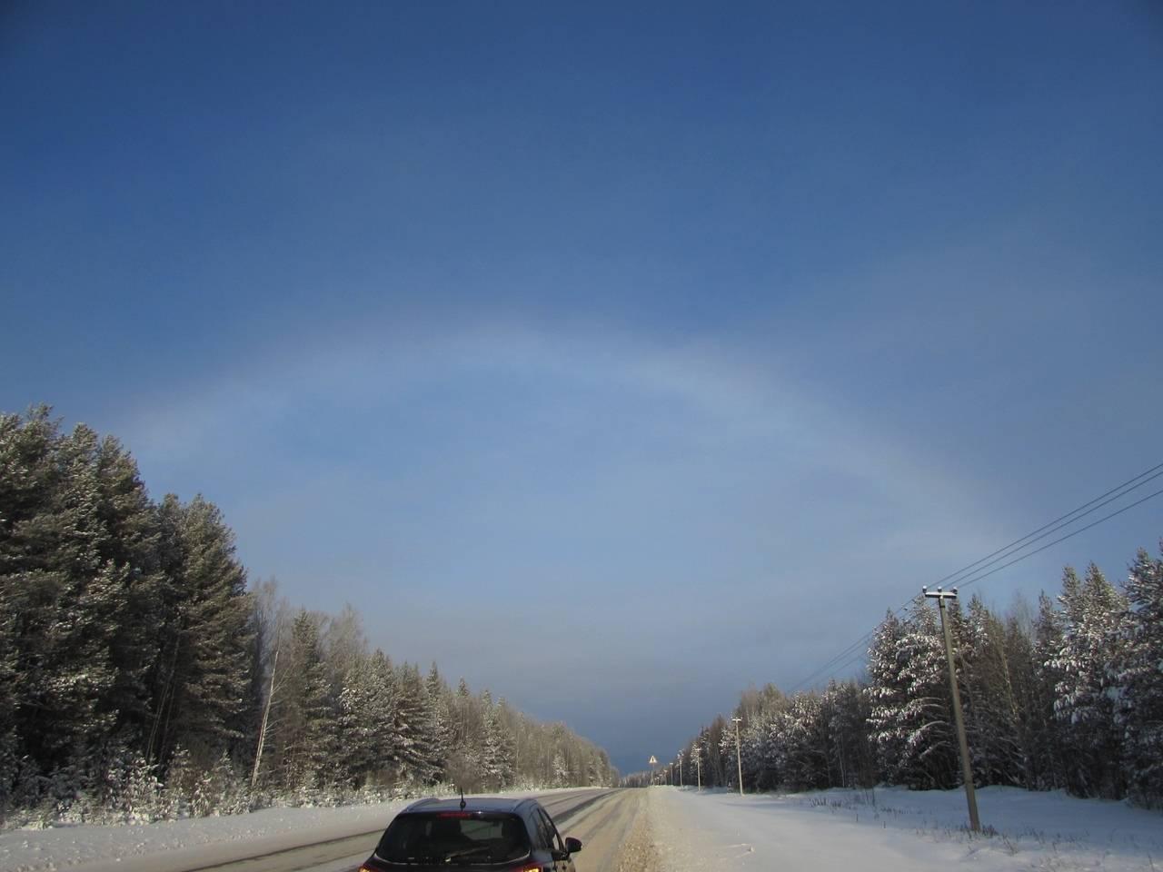 Жители Кировской области наблюдали туманную радугу